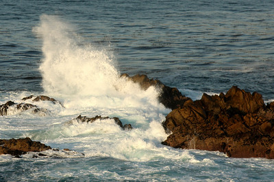 Waves crash on the rocks in Point Lobos State Reserve - Carmel, CA ... March 11, 2009 ... Photo by Rob Page III