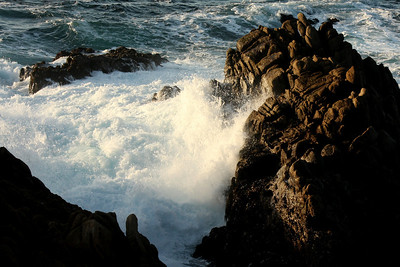 Waves crash at Granite Point in Point Lobos State Reserve - Carmel, CA ... March 11, 2009 ... Photo by Rob Page III