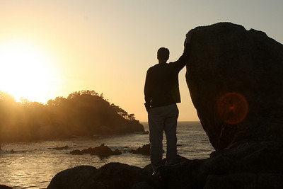 Rob watching the sunset at Point Lobos State Reserve - Carmel, CA ... March 11, 2009 ... Photo by Emily Page