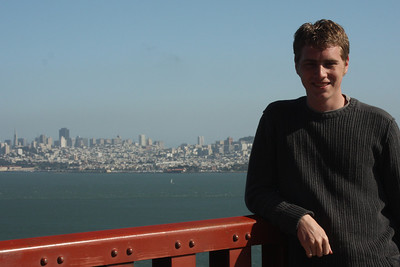 Rob on the Golden Gate Bridge - San Francisco, CA ... March 12, 2009 ... Photo by Emily Page