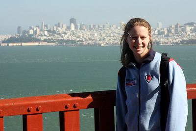 Emily on the Golden Gate Bridge - San Francisco, CA ... March 12, 2009 ... Photo by Rob Page III