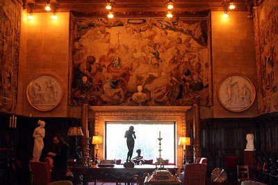 Inside the waiting/game room at the Hearst Castle - San Simeon, CA ... March 10, 2009 ... Photo by Rob Page III