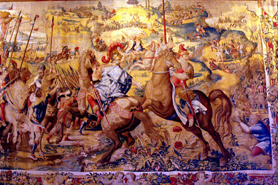 A tapestry hanging in the Hearst Castle - San Simeon, CA ... March 10, 2009 ... Photo by Rob Page III