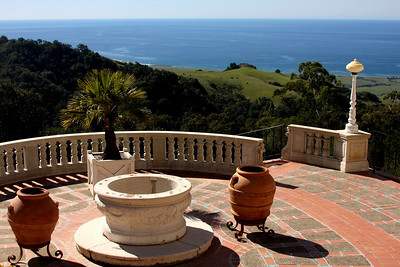 The view of the Pacific Ocean from the Hearst Castle - San Simeon, CA ... March 10, 2009 ... Photo by Rob Page III