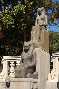 A statue from Egypt at the Hearst Castle - San Simeon, CA ... March 10, 2009 ... Photo by Rob Page III