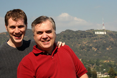 Rob and Dad enjoying California - Hollywood, CA ... March 8, 2009 ... Photo by Emily Page