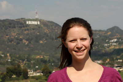 Emily enjoying California - Hollywood, CA ... March 8, 2009 ... Photo by Rob Page III