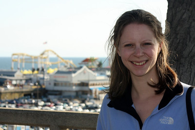 Emily at the beach - Santa Monica, CA ... March 8, 2009 ... Photo by Rob Page III