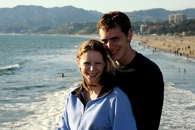 Rob and Emily taking in the California sunshine - Santa Monica, CA ... March 8, 2009 ... Photo by Bob Page Jr.