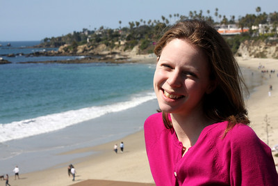 Emily enjoying the beach - Laguna Beach, CA ... March 7, 2009 ... Photo by Rob Page III