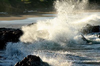 Waves breaking early in the morning - Cambria, CA ... March 10, 2009 ... Photo by Rob Page III
