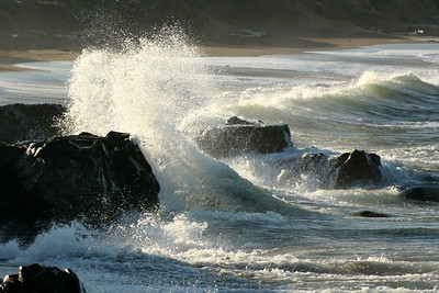 Waves breaking at sunrise - Cambria, CA ... March 10, 2009 ... Photo by Rob Page III