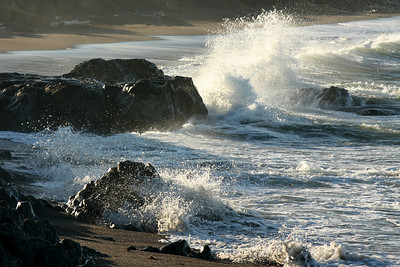 Waves breaking in the morning - Cambria, CA ... March 10, 2009 ... Photo by Rob Page III