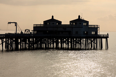 The Malibu Pier in the early morning sunshine - Malibu, CA ... March 9, 2009 ... Photo by Rob Page III