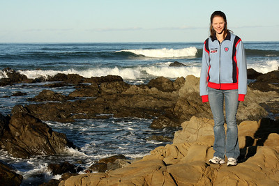 Emily enjoying the morning by the water - Cambria, CA ... March 10, 2009 ... Photo by Rob Page III
