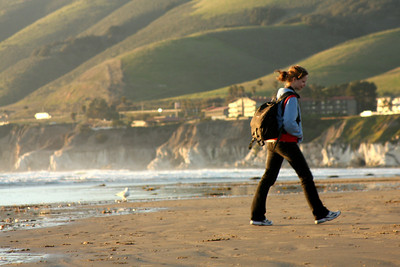 Emily on the beach - Pismo Beach, CA ... March 9, 2009 ... Photo by Rob Page III