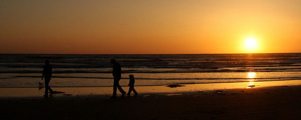 A family on the beach - Pismo Beach, CA ... March 9, 2009 ... Photo by Emily Page
