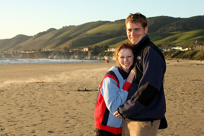 Rob and Emily at the beach - Pismo Beach, CA ... March 9, 2009 ... Photo by Unknown