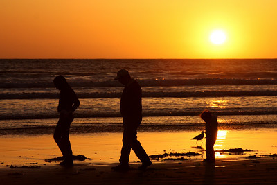 A family enjoying the beach - Pismo Beach, CA ... March 9, 2009 ... Photo by Emily