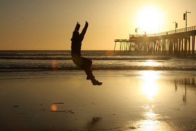 Playing on the beachat sunset - Pismo Beach, CA ... March 9, 2009 ... Photo by Emily Page