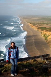Emily enjoying the evening - Point Reyes National Seashore, CA ... March 12, 2009 ... Photo by Rob Page III