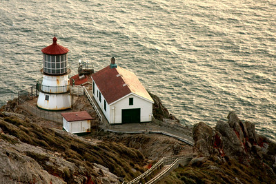 Point Reyes Lighthouse at the windiest spot on the Continental United States' Pacific coast - Point Reyes National Seashore, CA ... March 12, 2009 ... Photo by Rob Page III