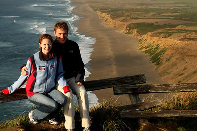 Emily and Rob enjoying the beautiful evening - Point Reyes National Seashore, CA ... March 12, 2009 ... Photo by Rob Page III