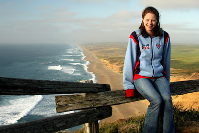 Emily enjoying the lovely evening - Point Reyes National Seashore, CA ... March 12, 2009 ... Photo by Rob Page III
