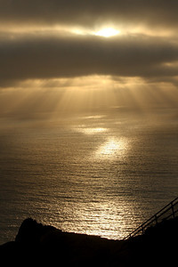 Sunset over the Point Reyes Lighthouse - Point Reyes National Seashore, CA ... March 12, 2009 ... Photo by Rob Page III