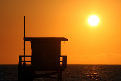 Sunset - Hermosa Beach, CA ... March 7, 2009 ... Photo by Rob Page III