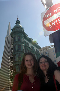 Emily and Liora enjoying a beautiful day in the city - San Francisco, CA ... March 13, 2009 ... Photo by Rob Page III