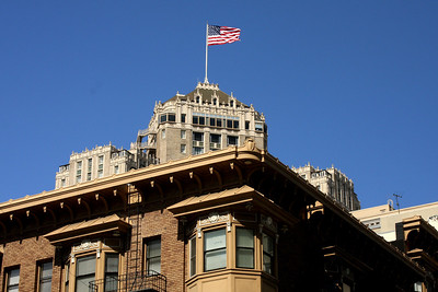 The buildings around Union Square - San Francisco, CA ... March 13, 2009 ... Photo by Rob Page III