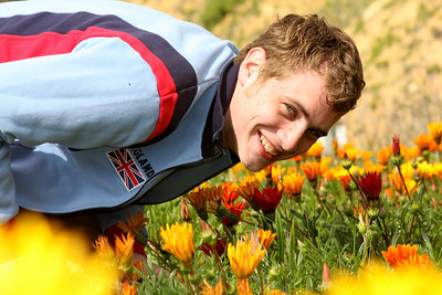 Rob enjoying the flowers - Santa Barbara, CA ... March 9, 2009 ... Photo by Rob Page III