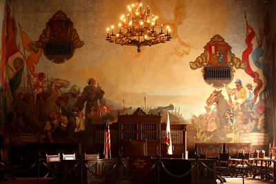 The main courtroom in the Santa Barbara Courthouse - Santa Barbara, CA ... March 9, 2009 ... Photo by Rob Page III
