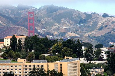 The Golden Gate Bridge floats above the city - San Francisco, CA ... August 14, 2010 ... Photo by Rob Page III