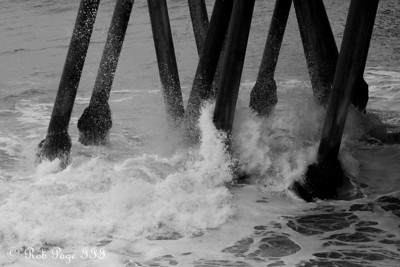Waves crash against the pier - Huntington Beach, CA ... March 15, 2012 ... Photo by Rob Page III