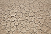 Death Valley, Patterns - Small brown irregular mud tiles, above