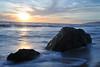 Sunset on Malibu - with rocks