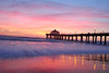 Red Sky on Huntington Pier