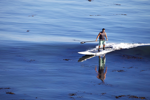 Paddle boarding in Santa Cruz