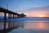 Blue Huntington Beach Pier