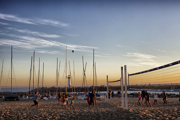 Evening volleyball at Santa Cruz