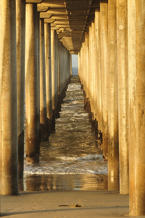 Wooden Pier leading to the ocean