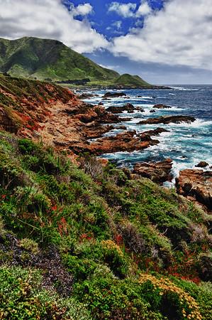 Vertical colorful coastline