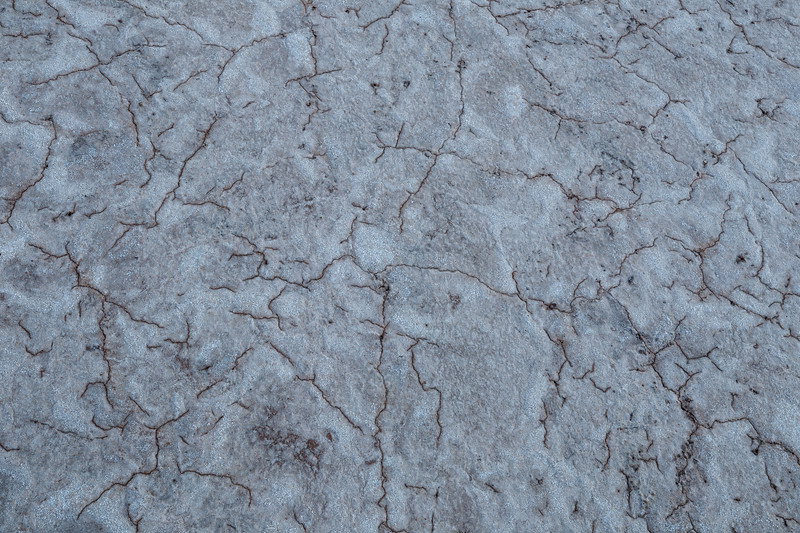 Death Valley, Patterns - White salt with brown lines, above