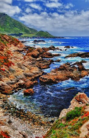 Colorful coastline