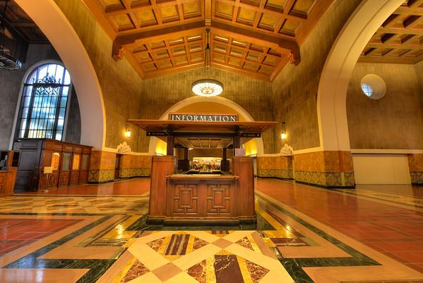 LA Union station entrance HDR