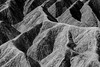 Death Valley, Zabriskie - Abstract study of eroded badlands in black and white