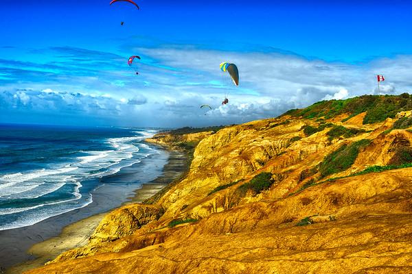 Wind Kiting in La Jolla California