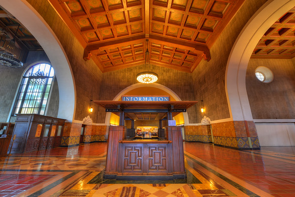 Information booth at Union Station